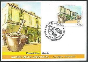 2004 Italia Cartolina Postale Fdc Museo Della Liquirizia - Y
