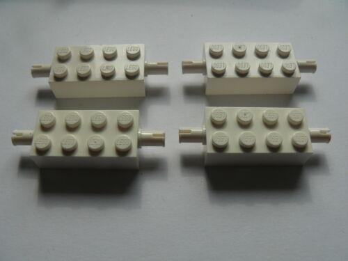 Lego 4 essieux blancs set 6854 6982 4 white brick modified