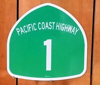 California 1 Pacific Coast Highway Pch Interstate Route Sign