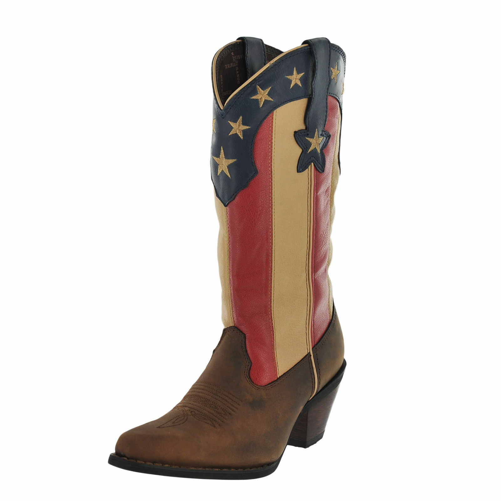 LADIES DURANGO CRUSH STARS & STRIPES AMERICAN FLAG COWGIRL BOOTS DRD0060