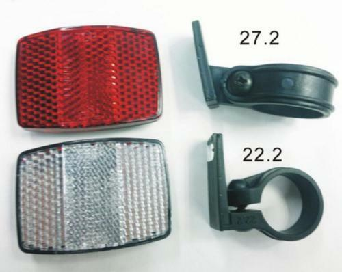 DZ838 Handlebar Mount Safe Reflector Bicycle Bike Front Rear Warning Red /&White