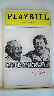 Cold Storage Playbill Len Cariou Autographed Nyc 1978 Aromatic Character And Agreeable Taste Entertainment Memorabilia