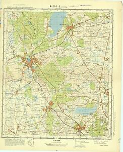 Russian Soviet Military Topographic Maps HILLEROD Denmark150