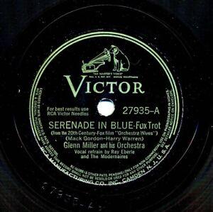 GLENN MILLER Orchestra on 1942 Victor 27935 - Serenade in Blue / That's Sabotage