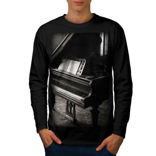 Foto di pianoforte Vecchi Uomini Vintage a maniche lunghe T-shirt Nuovewellcoda