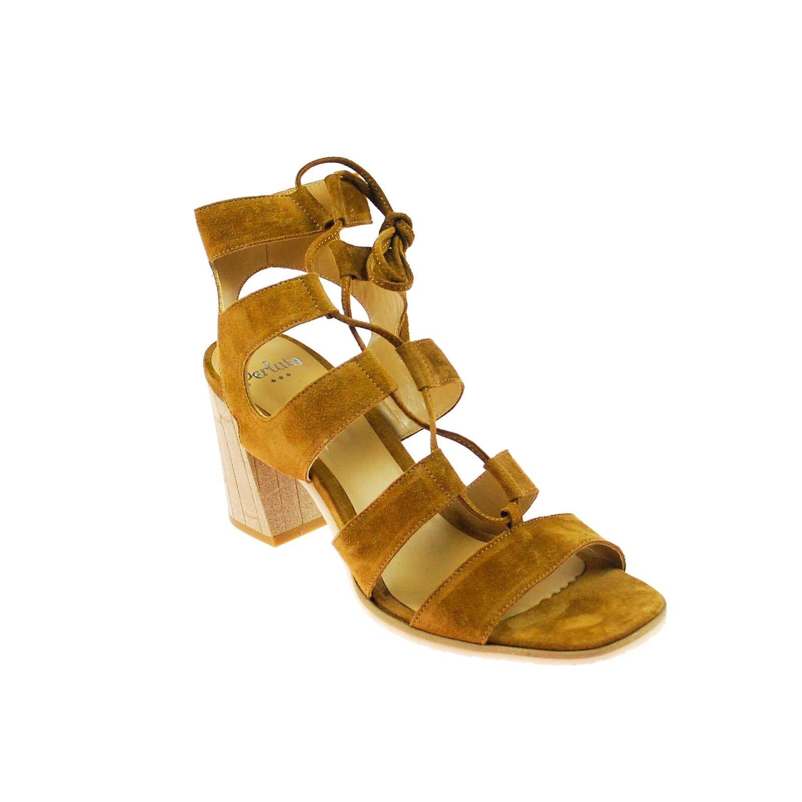 PERLATO Femmes Femmes PERLATO Escarpins  s Chaussure Cuir Marron 5a6156