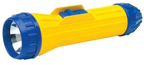 Weatherproof Yellow and Blue Heavy Duty Plastic Flashlight for Boats