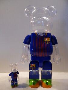 1 Bearbrick Original Fc Barcelona 100% 400% Figurine Be @ rbrick Avec boîte