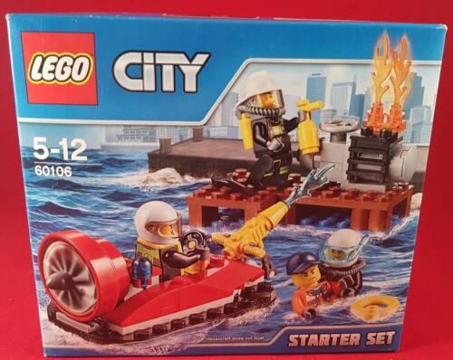 LEGO CITY 60106 FIRE STARTER SET Firefighters 90 Piece Building Brick Set NEW