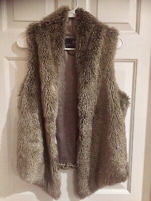 Women Open Front Faux Sherpa Vest Fuzzy Sleeveless Hoodie Waistcoat Cardigan