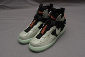 premium selection 54c63 a8718 Image is loading NIKE-AIR-FORCE-1-UTILITY-MID-SPRUCE-FOG-