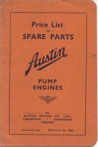 Austin-Eight-8-Pump-Engine-original-Price-List-of-Spare-Parts-July-1939-Pub-1828