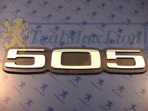 Monogramme-505-autocollant-aluminium-mat-Peugeot-505