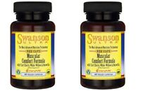 Swanson Ultra Muscular Comfort Formula Dietary Supplement 120 Capsules 2bottles