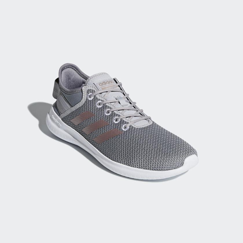 NIB Adidas Cloudfoam QT Flex Sneaker Grau/Vapour Knitted Damenschuhe Running Schuhe 6.5