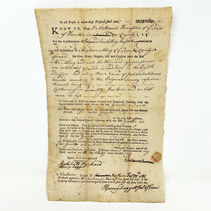 Connecticut. Two manuscript indentures Nathaniel fitch 1789