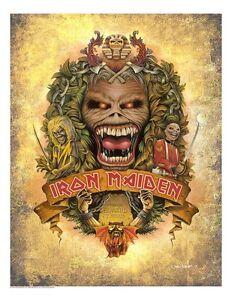 Details about Eddie's Crest Iron Maiden Family Crest Inspired Artwork Metal  Music Art Giclée