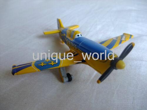 Mattel Disney Pixar Planes No.12 Nordic Metal Toy Plane Loose New In Stock 1:55