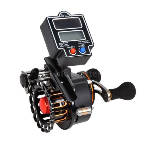 4+1 Ball Bearings 3.5:1 Fishing Reel with Solar Power Digital Line Counter R8S3