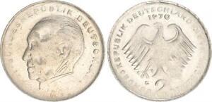 2 DM Adenauer 1970 G, Lack Coinage, On Half Geplatzten Schrötling (44006)