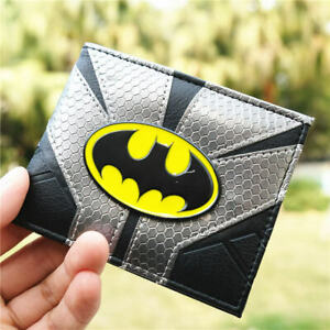 DC-Batman-Logo-Embed-PU-leather-wallet-with-card-holder-short-Bi-Fold-coin-Purse