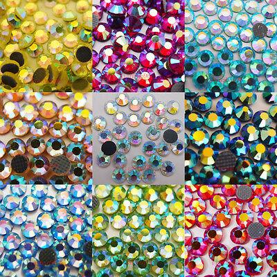 DMC Hotfix Iron-On Rhinestones Crystal AB FlatBack Seed Bead