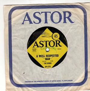 "THE KINKS ~ A Well Respected Man ~ Original 1965 Australian 2-tr 7"" vinyl single"