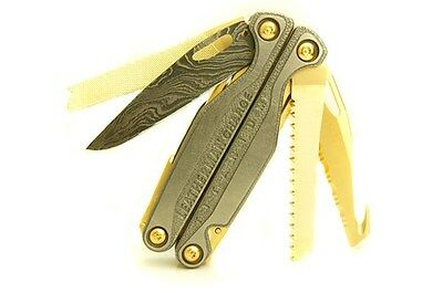 "Leatherman Charge TTi Multi-Tool ""Shogun Edition"" w/ Damascus Blade and 24k Gold"