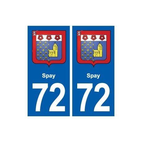 72 Spay blason autocollant plaque stickers ville arrondis