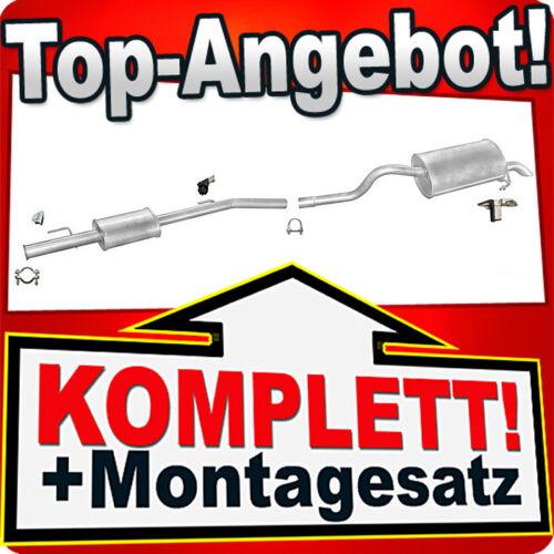 Auspuff RENAULT CLIO 2 II 1.4 16V Auspuffanlage 462