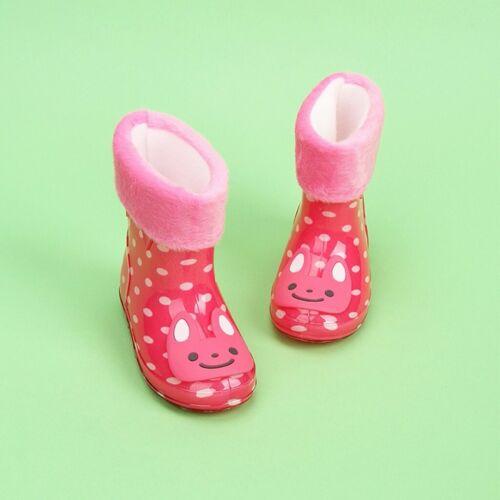 Waterproof Kids Children Animal Rubber Infant Baby Rain Boots Warm Rain Shoes