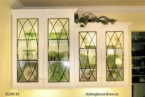 kitchen cabinet door leaded glass inserts design sgdk 2000