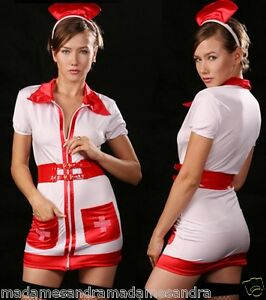 Image is loading SEXY-NURSE-COSTUME-OUTFIT-Fancy-Dress-HALLOWEEN-sizes-  sc 1 st  eBay & SEXY NURSE COSTUME OUTFIT Fancy Dress HALLOWEEN sizes M L XL Doctors ...