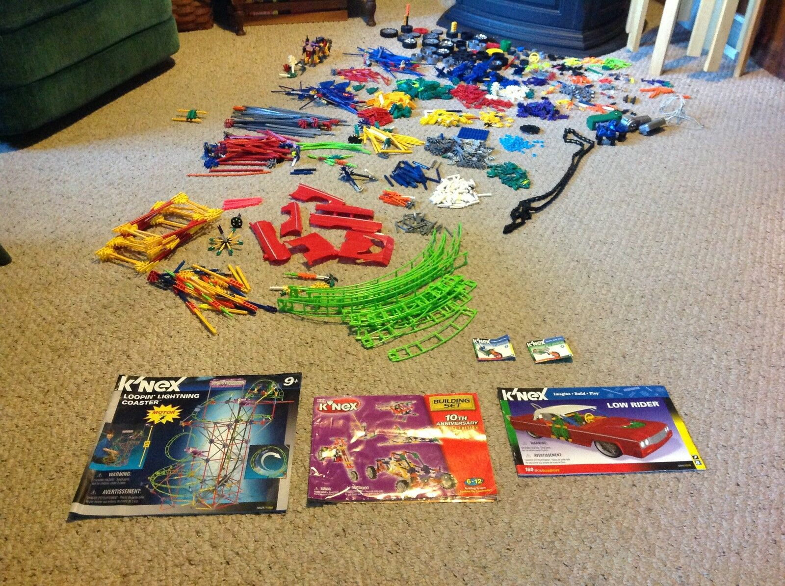 Used. Huge Lot of K'Nex with Manuals.  What you see is what you get