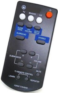 New Replacement Soundbar Remote For Yamaha FSR62 ZC94940 YAS-201 YAS-CU201