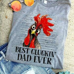 Best Cluckin/' Dad Ever Farmer Daddy Chicken Funny Father/'s Day Gift Men T-Shirt