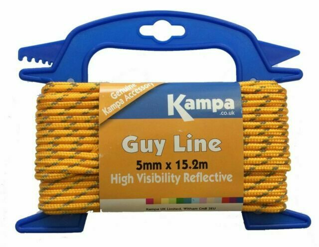 Kampa Tent Awning High Visibility Fluorescent Guy Line ...