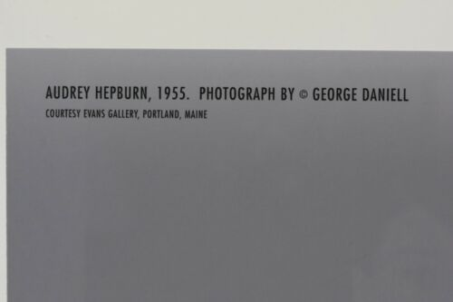 AUDREY HEPBURN,1955 by George Daniell Postkarte Kunst