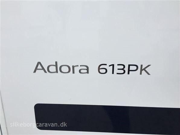 Adria Adora 613 PK, kg egenvægt 1565, kg totalvægt 2000