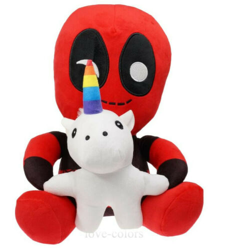 "New Marvel Deadpool Riding Unicorn Plush Doll Action Figure Stuffed Toy 5.5/"""