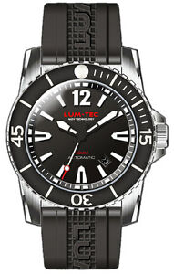 Lum-Tec-Watch-300M-1-40mm-Automatic-Mens-Diver-Stainless-Steel-amp-Rubber-WARRANTY
