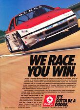 1988 Dodge Daytona Race IMSA - Vintage Advertisement Car Print Ad J392