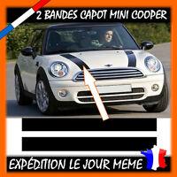 2 Bandes Capot Pour Mini Cooper - Autocollant Sticker -