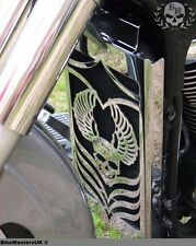 SUZUKI M 800 M800 INTRUDER - SKULL - STAINLESS STEEL RADIATOR COVER GRILL GUARD