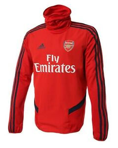 Details about Adidas Men Arsenal FC Warm Training L/S Shirts Red Soccer Top Tee Jersey EH5707