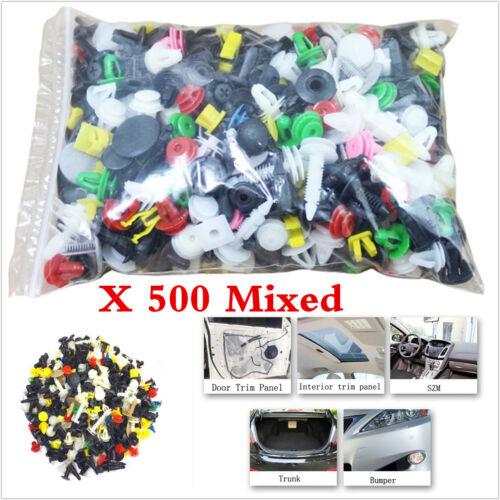 500pcs Car Plactis Body Bumper Rivet Retainer Push Door Trim Panel Clip Fastener