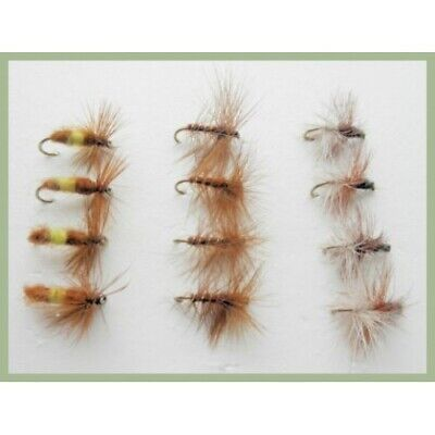 6 pack leckford Professor Fishing Flies Dry trout Flies Choice of Sizes
