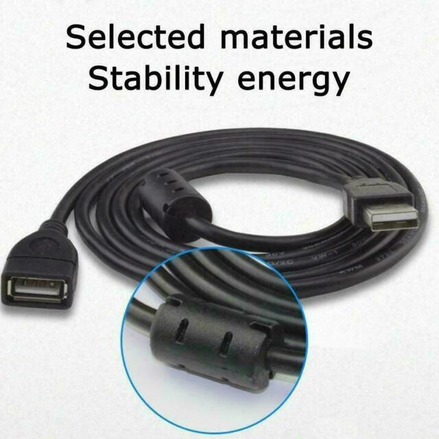 USB EXTENSION CABLE 1.5/3/5m USB2.0 Male to Female Magnetic Ring Extender R8A7