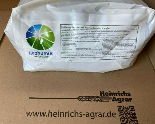 Geohumus 25 kg Aqua+3 Langzeit Wasserspeichergranulat Bodenverbesserer Dünger