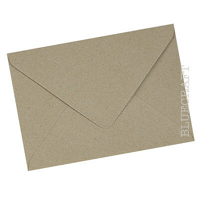 6 x 6 inches 155mm Square Brown Ribbed Kraft Envelopes 100gsm